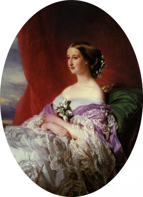 Francouzská císařovna Evženie přenechá Viktorii velkoryse svoje šaty.