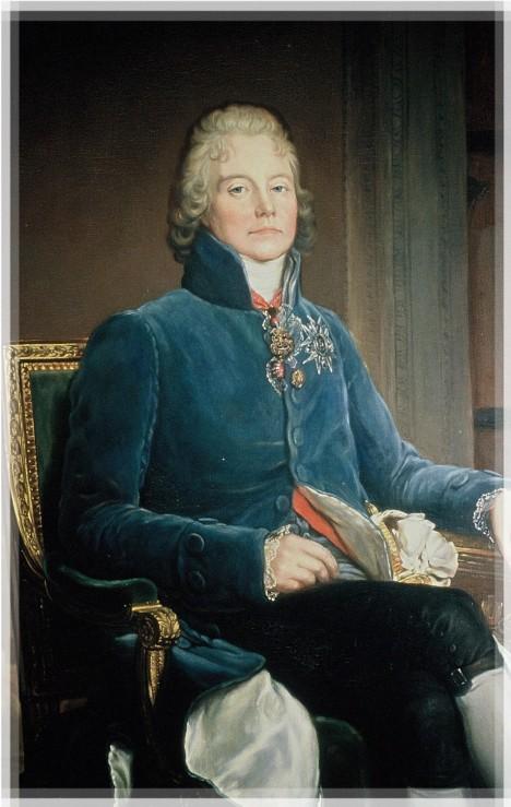Francouzský ministr zahraničí Charles Maurice de Talleyrand-Périgord přemlouvá první konzula, aby prince poslal na smrt.