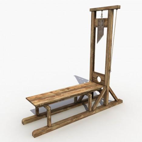 Gilotina, vynález francouzského lékaře Josepha Ignáce Guilotina, má údajně zajistit humánnější způsob popravy.