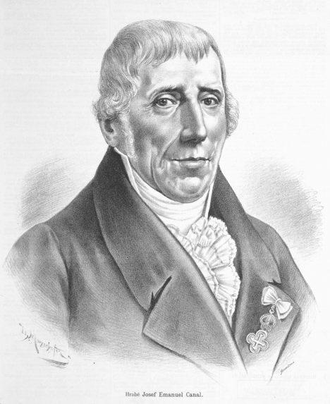 Hrabe Josef Emanuel Canal vzdělává české zemědělce.