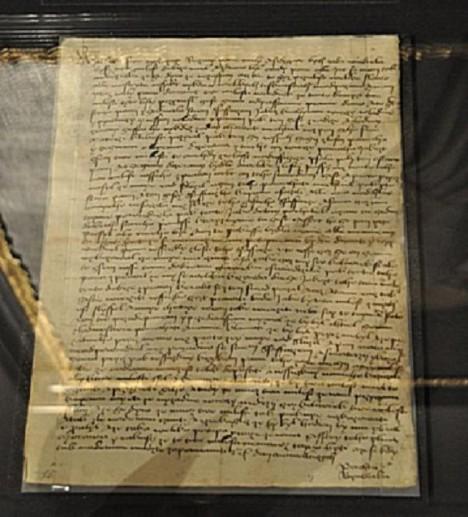 Jeden z dochovaných dopisů, ve kterém si šlechtična stěžuje otci na své neštěstí.