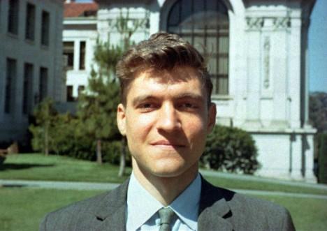 Kaczynski jako mladý profesor na univerzitě v Berkeley, 1968.