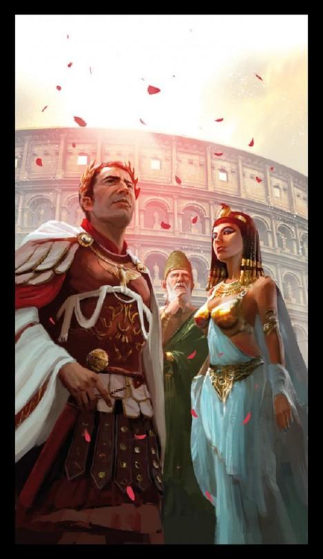 Kleopatra okouzluje muže vůní, kterou šíří kolem sebe.