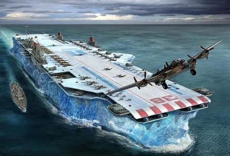 Loď z ledu naštěstí zůstane jen na papíře.