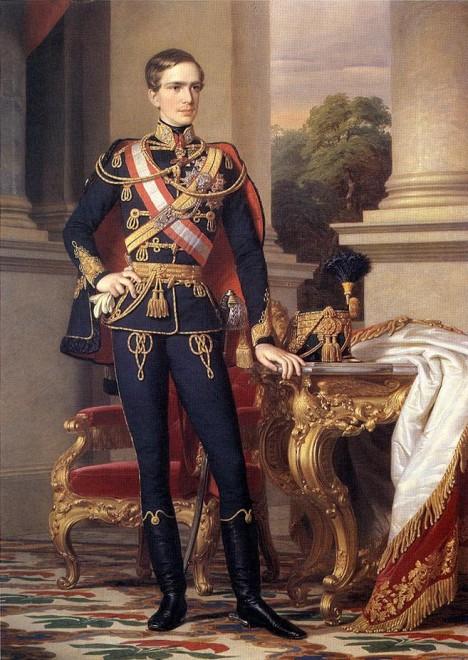 Mladý císař František Josef I. slouží jako voják pod Radeckého vedením.