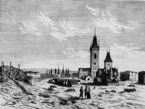 Na Karlově náměstí se kdysi prodával dobytek. Stávala tu i kaple pro vystavení klenotu.