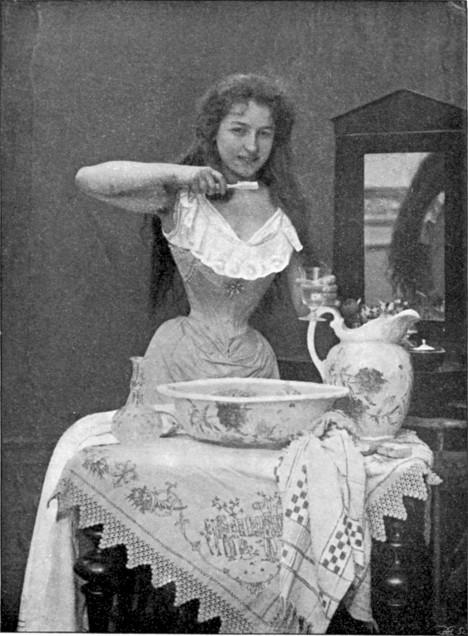 Na přelomu 19. a 20. století už se čistění zubů stalo běžnou součástí hygieny.