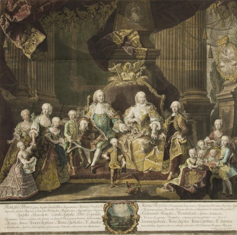 Na svoji početnou rodinu vládkyně rakouských zemí dohlíží přísně, ale s láskou.