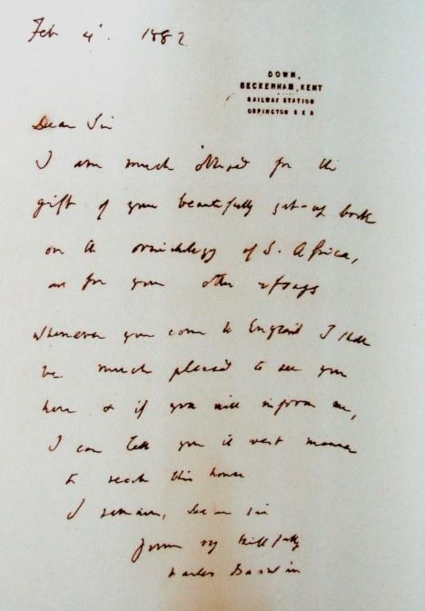 O Holubovy sbírky projevovaly zájem různé vědecké kapacity. Dopis mu napsal například i zakladatel evoluční teorie Charles Darwin.