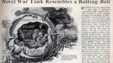 O vývoj tanku ve tvaru Koule se pokoušely snad všechny světové velmoci.