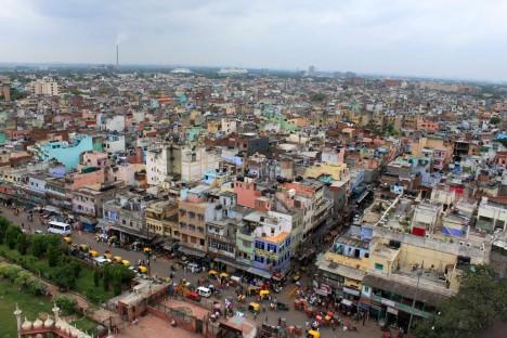 Panorama indického Dillí