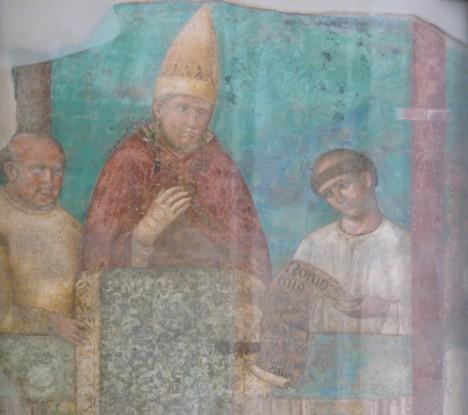 Papež Bonifác VIII. se nechá vymalovat také v Lateránské bazilice v Římě.