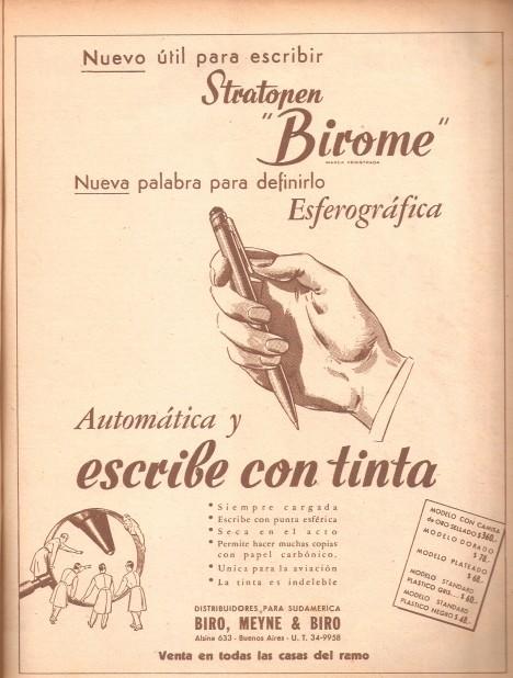 Po skončení 2. světové války se objevuje spousta reklam na nový vynález. Záhy se stane hitem.