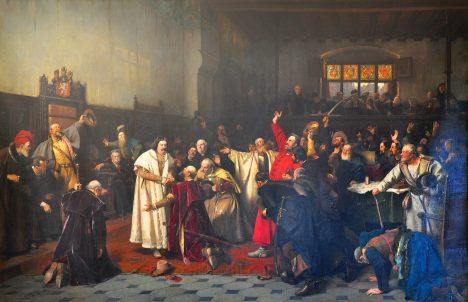 Po volbě českým králem v roce 1458 Jiříkův záhadný původ ještě nikomu nevadí.