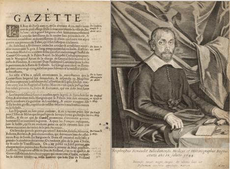 Prostřednictvím francouzských novin La Gazette Theophrasta Renaudota je možní významně ovlivnit veřejné mínění.