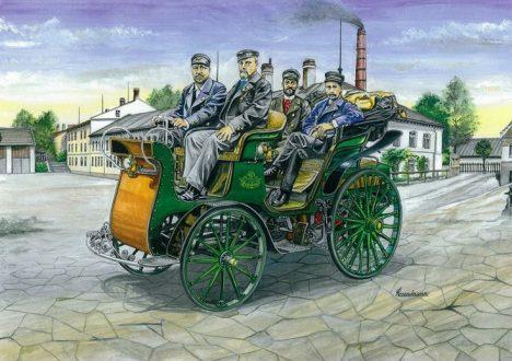 První osobní automobil Präsident si hravě poradí i s více než třísetkilometrovou cestou z Kopřivnice do Vídně.