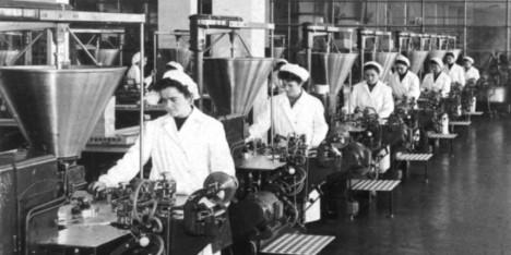 První továrna na výrobu Nutelly funguje v plném provozu už v 50. letech 20. století.