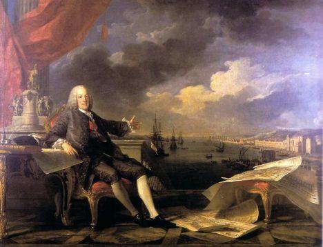 Sebastião e Mělo, markýz de Pombal svými rozkazy zabrání šíření epidemií po zemětřesení.