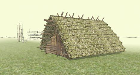 Slovanská obydlí byla částečně zabudovaná pod zemí. Uvnitř stála pec.