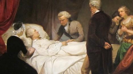 Smrt zastihne dvakrát zvoleného prezidenta 14. prosince 1799.