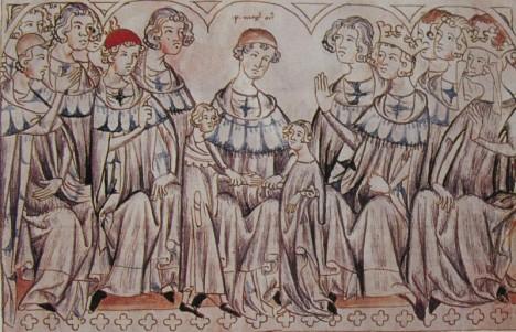 Svatba Elišky Přemyslovny a Jana Lucemburského v katedrále ve Špýru je velkolepá.Požehná jim mohučský arcibiskup Petr z Aspeltu.