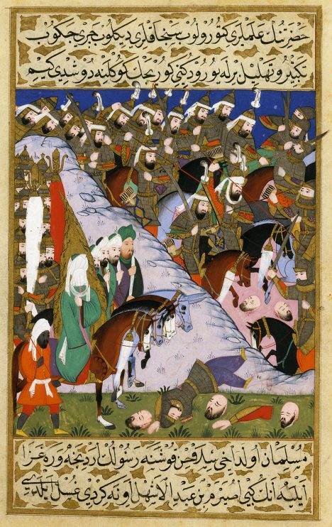 The_Prophet_Muhammad_and_the_Muslim_Army_at_the_Battle_of_Uhud,_from_the_Siyer-i_Nebi,_1595