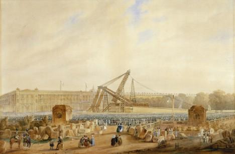 V 19. století se na pařížském Place de la Concorde instaluje obelisk, dar egyptského místokrále.