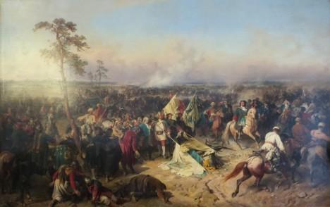 V bitvě u Poltavy se Švédům vůbec nedaří. Utrží drtivou porážku.