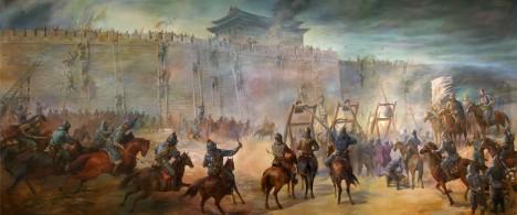 V roce 1211 armáda slavného mongolského vůdce dobude hlavní město Číny Peking.