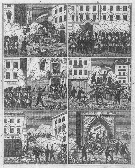 V roce 1848 se bojuje i v Praze na barikádách.