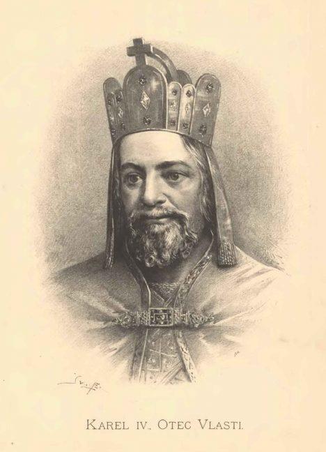 Ve tváři panovníka se mísí lucemburské a přemyslovské rysy.