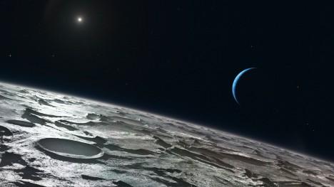 Z povrchu Tritonu již Slunce nepůsobí nijak majestátně