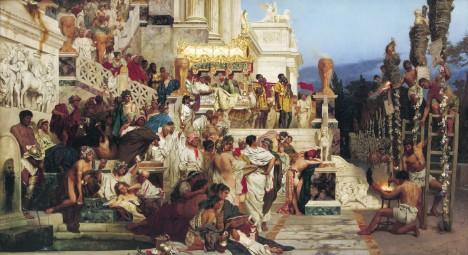 Z prvních křesťanů se ve starém Římě často stávaly živé pochodně. Umírali v ohni.