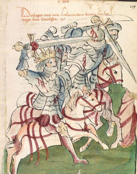 Z udatného bojovníka Lothara III. má český kníže respekt.