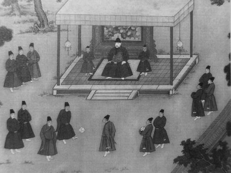 Za vlády dynastie Ming na čínském dvoře hráli eunuši i míčové hry.