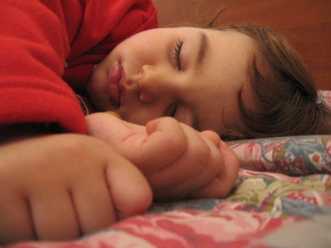 Spící dítě.