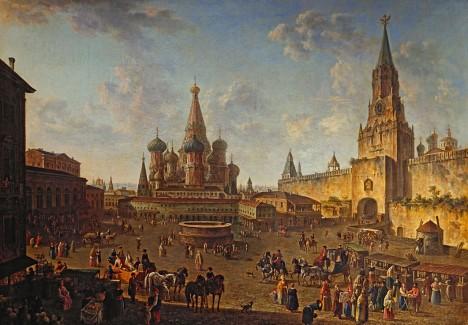 Chrám Vasila Blaženého se stává dominantou Rudého náměstí. Napoleon I. ho chce rozebrat a odvézt do Paříže.