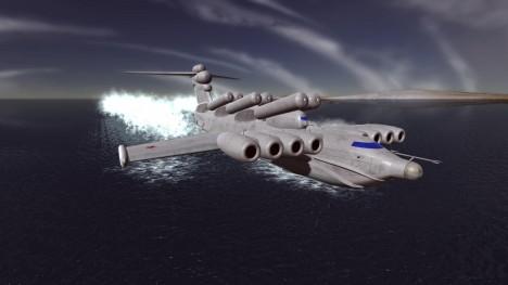 Jediný typ ekranoplánu s výzbrojí, byl stroj označovaný jako Lun a sloužil až do 90. let. Byl vyzbrojen šesticí řízených protilodních raket a dvojící kulometných hnízd.