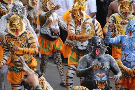 O co jde?: festival Puli Kali Kde se koná?: Thrissur, Indie Kdy?: září