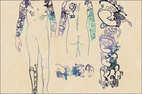 Množství tetování napovídá, že nešlo rozhodně o obyčejnou ženu.
