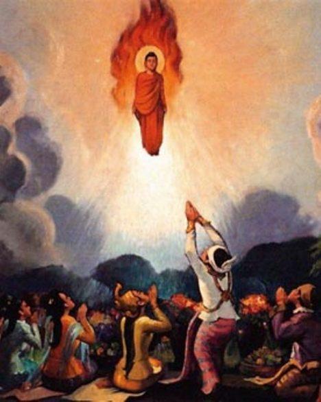 levitující buddha