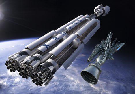 Rakety Falcon Heavy mají být budoucností cest k Marsu.
