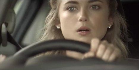 překvapená řidička