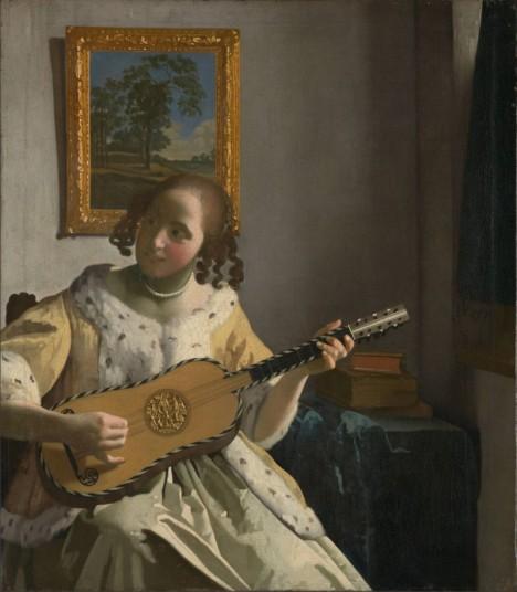 Ve šlechtických kruzích si lidé nástroj rychle oblíbí. Rádi ho zobrazují i malíři, například Holanďan Jan Vermeer van Delft.