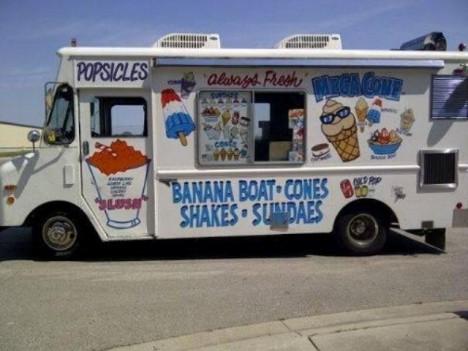 zmrzlinářské auto