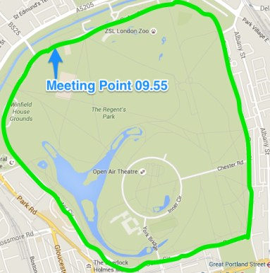 Regent's park Run London 20.03.16