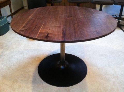 black walnut tulip table