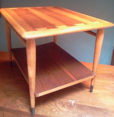 lane acclaim mid century modern side table