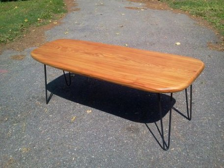 cypress slab coffee table