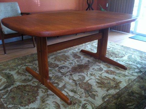 danish modern teak dining table by skovby